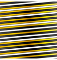 White black and golden stripes design vector image