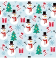 winter ornament seamless pattern vector image
