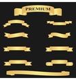 Realistic Golden Glossy Web Ribbon vector image