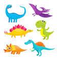 set of cartoon style cute and funny smiling baby vector image