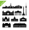 berline city germany landmark and skyline vector image