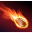 Burning football vector image