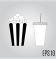 popcorn and soda icon vector image