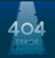 404 error page not found in under ocean vector image