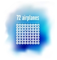 72 icons airplanes vector image vector image