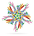 Abstract colourful star vector image vector image