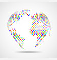 abstract globe earth of colorful circles vector image vector image
