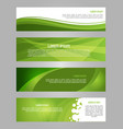 abstract set of 4 simply banner in green color vector image vector image