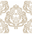Baroque floral damask ornament pattern vector image vector image
