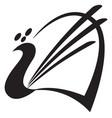 bird stylized image peacock logo template vector image vector image