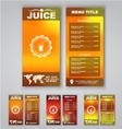 Blur menu vector image