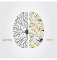 brain concept vector image vector image
