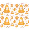 buddhist religious sacred symbols seamles vector image vector image