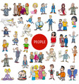 cartoon people characters collection vector image vector image