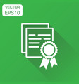 certificate icon business concept diploma award vector image vector image