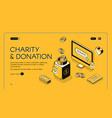charity donation isometric line halftone vector image vector image