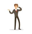 cheerful businessman talking on the phone vector image vector image