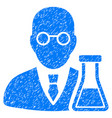 chemist grunge icon vector image vector image