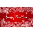 Christmas and New Year red background with vector image vector image