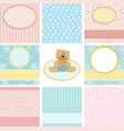 Collection of postcard backgrounds vector image vector image