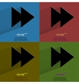 Color set multimedia control Flat modern web vector image