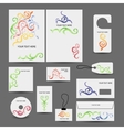 Corporate business style design folder labels vector image