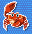 Crab with big claws vector image vector image