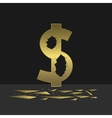 Cracked Dollar sign vector image vector image