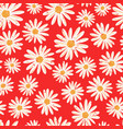 daisy flowers seamless background vector image vector image