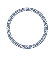 Decorative round frame for design in Greek style vector image vector image