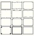 decorative simple frames set 12 vector image vector image