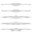 dividers tribal geometric elements vector image