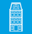dutch houses icon white vector image vector image