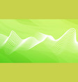 eco abstract background green color with wavy vector image