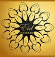 eid mubarak card with mandala design vector image vector image