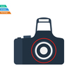 Flat design icon of Photo camera vector image