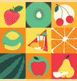 fruit pattern seamless fruity background and vector image vector image