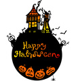 Halloween background with scary house vector image vector image