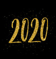 happy new year 2020 poster with hand drawn vector image vector image