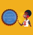 happy women day 8 march greeting card with modern vector image