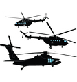 helicopters collection vector image vector image