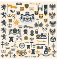 Heraldic design elements set vector | Price: 3 Credits (USD $3)