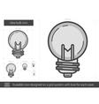 Idea bulb line icon vector image vector image