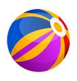 isolated beach ball icon vector image