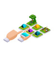 isometric concept online shopping using a smartpho vector image
