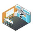 Kitchen Interior Isometric vector image vector image