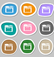 kitchen stove symbols Multicolored paper stickers vector image vector image