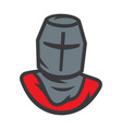 knight sign crusader helmet vector image vector image