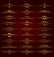 large set of golden ornate headpieces vector image vector image
