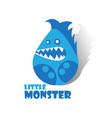 little monster cartoon vector image vector image